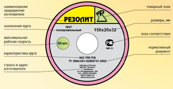 Круги полировальные на поливинилформалевой связке (ПФ)